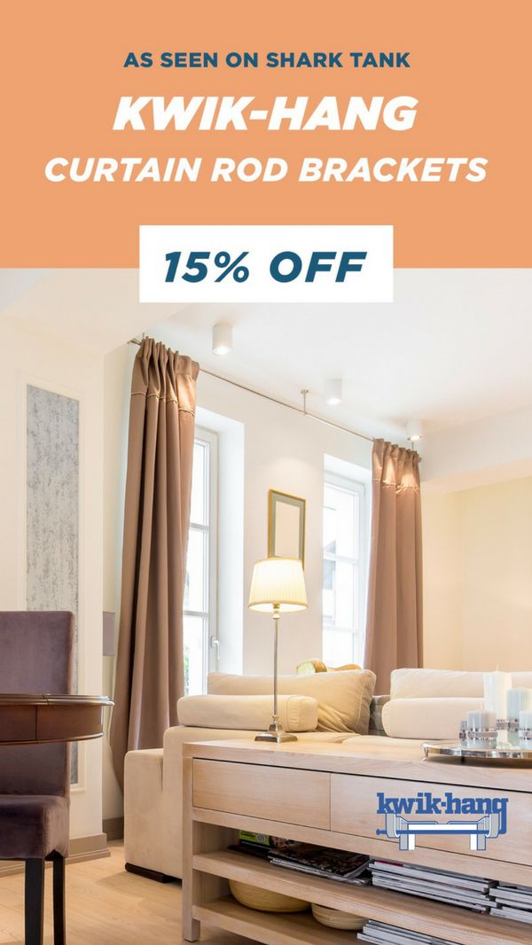 Our Curtain Rod Brackets are already as easy as it gets, but these Holiday Discounts make it even EASIER!   15% off on ALL of our AMAZING brackets as seen on Shark Tank.   �Tis  the season!