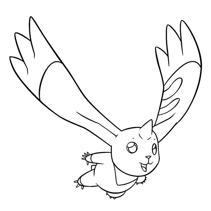 Free Digimon Coloring Page Pages 5 Printable