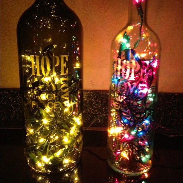 66 Best Wine Bottles Decorated Images On Pinterest .
