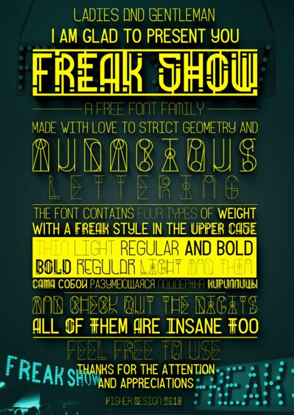 Freak Show - Free Font