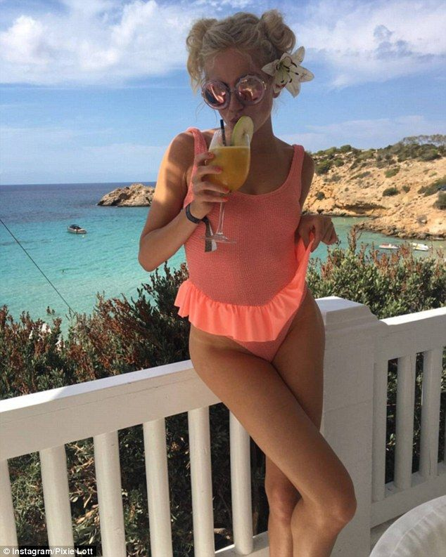 Isn't life peachy? The All About Tonight hitmaker posted a fun snap of her wearing a peach...