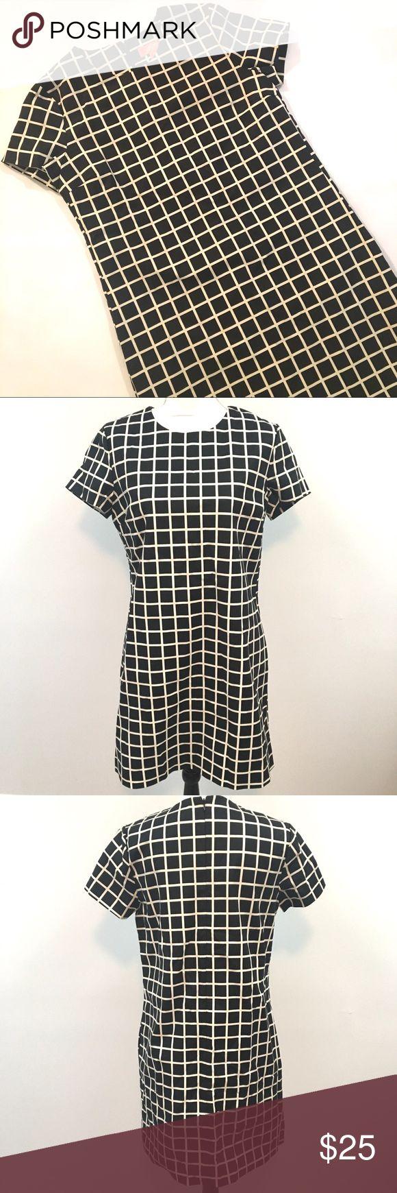 Joe Fresh Mod Grid Black and Cream Dress Size Med Joe Fresh Mod Grid Black and Cream Dress Size Medium Joe Fresh Dresses