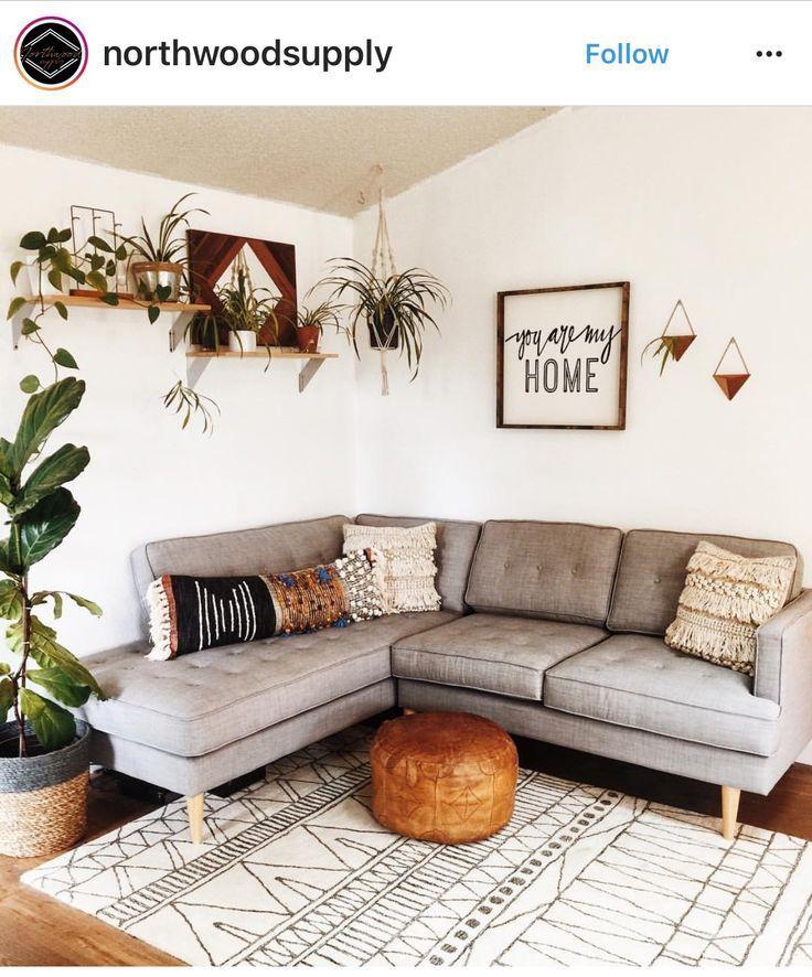 ~ Boho ~ Wohnzimmer ~ Wohnkultur ~ Pflanzen