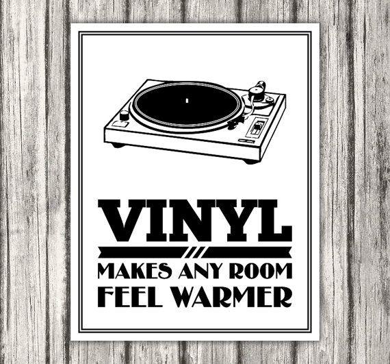 Vinyl Record Vinyl Makes Any Room Feel Warmer by BentonParkPrints