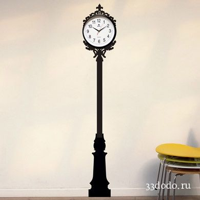 Идеальное оформление минималистских часов из IKEA. Недурно подходит также для резных часов с кукушкой, морских барометров и коллекционных раритетов голландских мастеров. Отлично сочетается с часами «Павлин» из коллекции Государственного Эрмитажа.