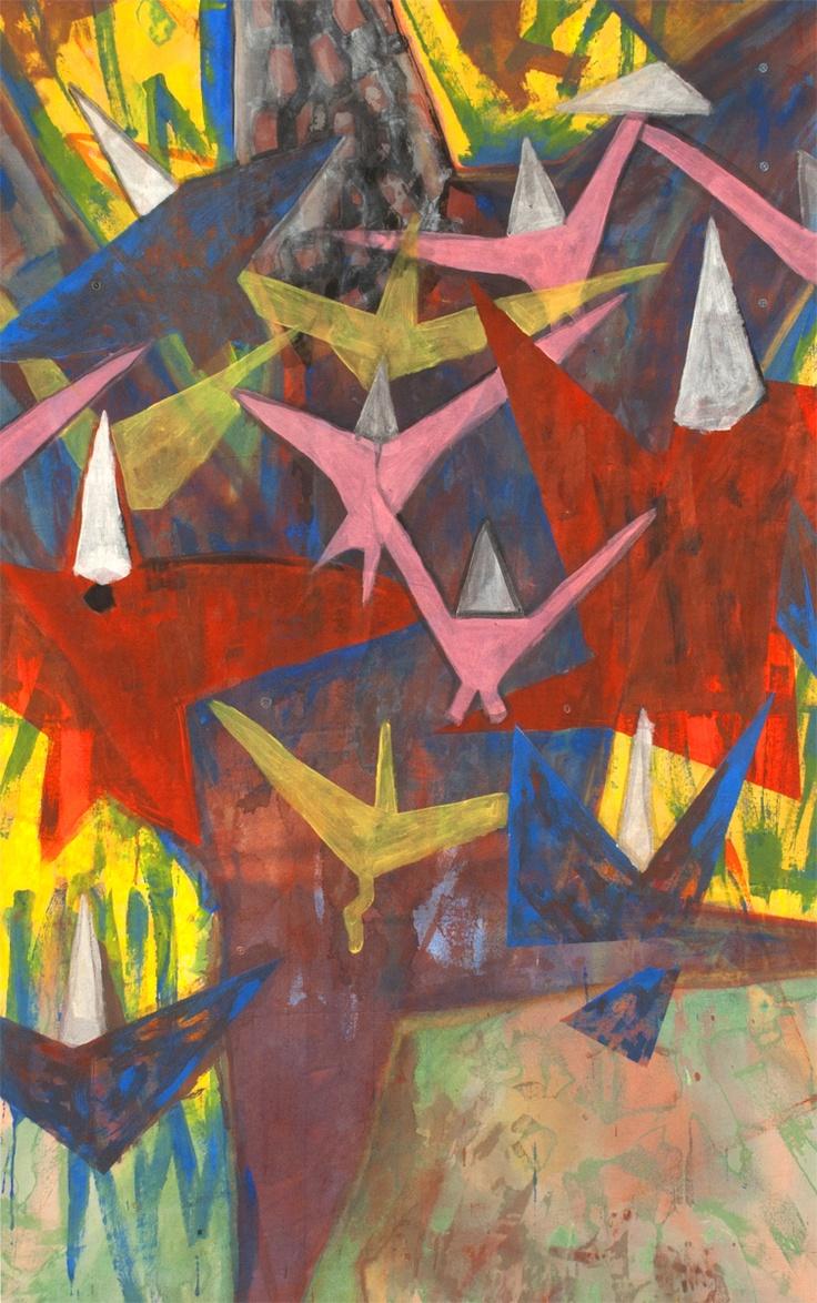 Szymon Szelc, birds, 2012  #art #painting #lasem #grupalasem #birds