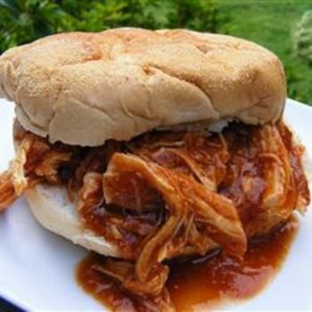 Zesty Slow Cooker Chicken Barbecue Allrecipes.com... One of my favorite slow cooker
