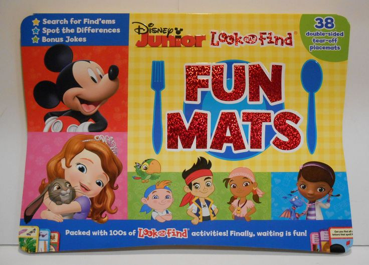 Disney Jr Look & Find Fun Mats Placemats Mealtime Preschool Mickey Mouse NEW