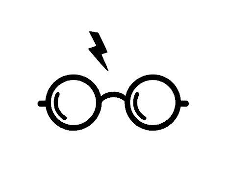 Harry Potter Glasses Vinyl Decal Sticker by TheVinylSweatshop
