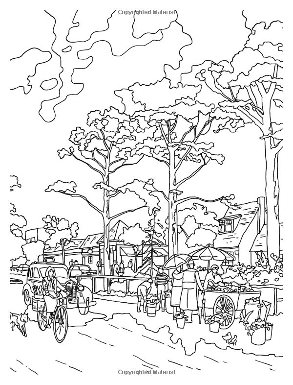 Thomas Kinkade Coloring Pages Coloring Pages