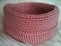 crocheted basket DIY