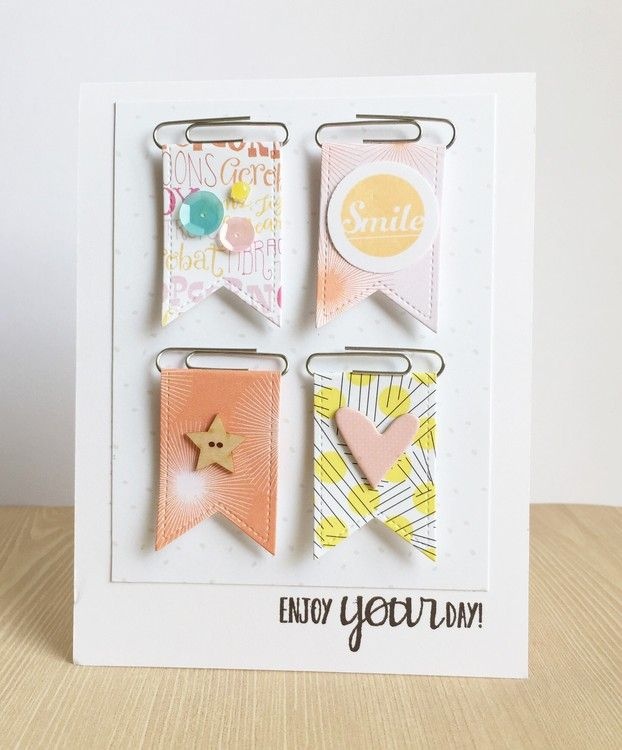 Paper clip banners by emym at @studio_calico