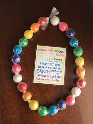 Rainbow Gumball Necklace Tutorial  (Baptism Birthday Gift Idea)