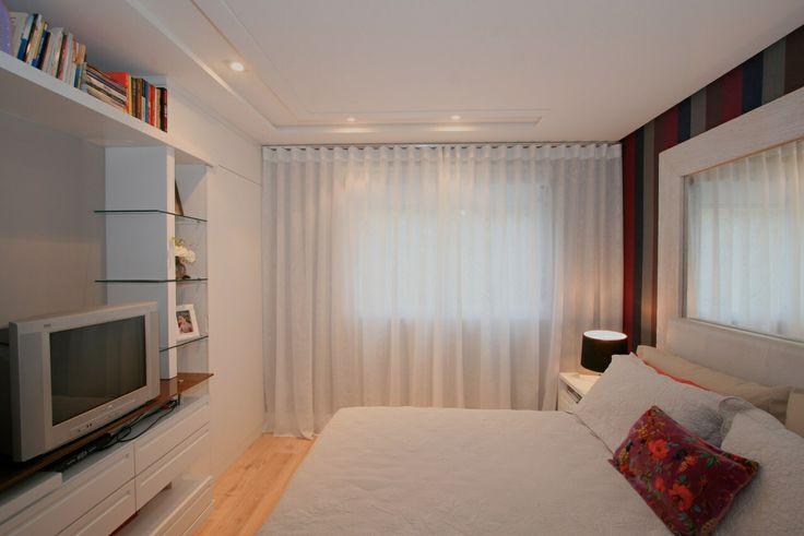 Cortina de voil para quarto de casal  quarto de casal  Pinterest  Quarto d
