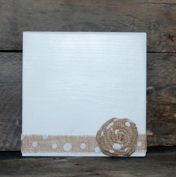 White Picture Frame  Photo Block  Picture Frame by MyLilCraftyRoom
