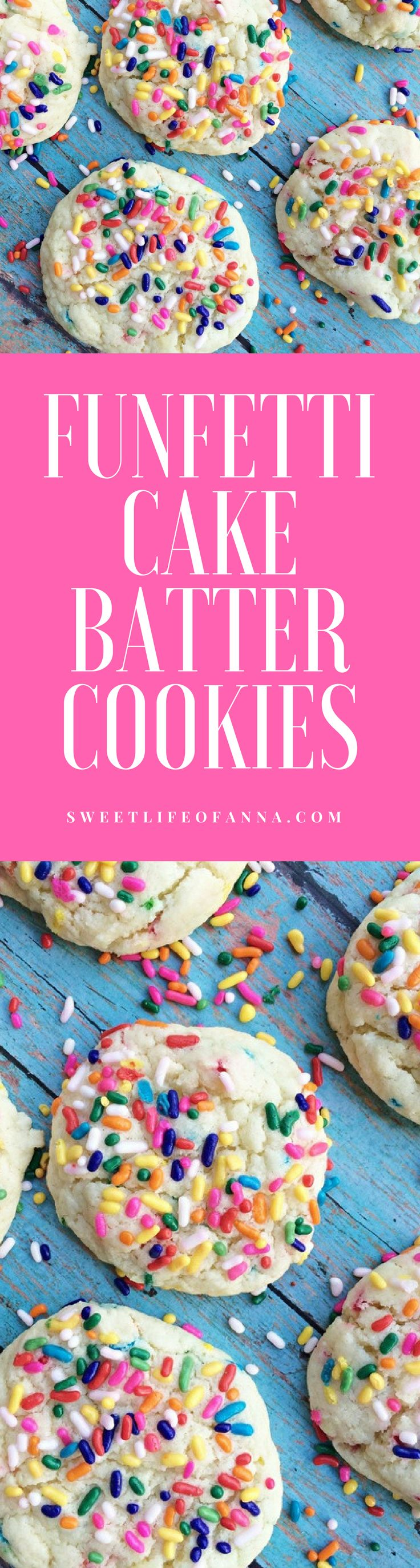 Funafuti Cake Batter Cookies using a Cake Box Mix.