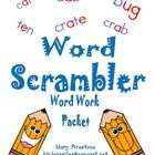 Word Scrambler This fantastic WORD WORK game will challenge each student at their instructional level. Words can be created from simple CVC words ...