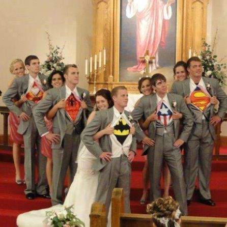 My groom is gonna be Ironman or Superman! <3