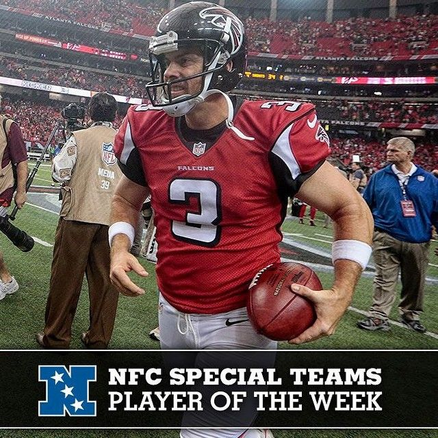 Kicker Matt Bryant Named Nfc Special Teams Player Of The Week Falcons Riseup Atlanta Falcons Football Falcons Football Team Player