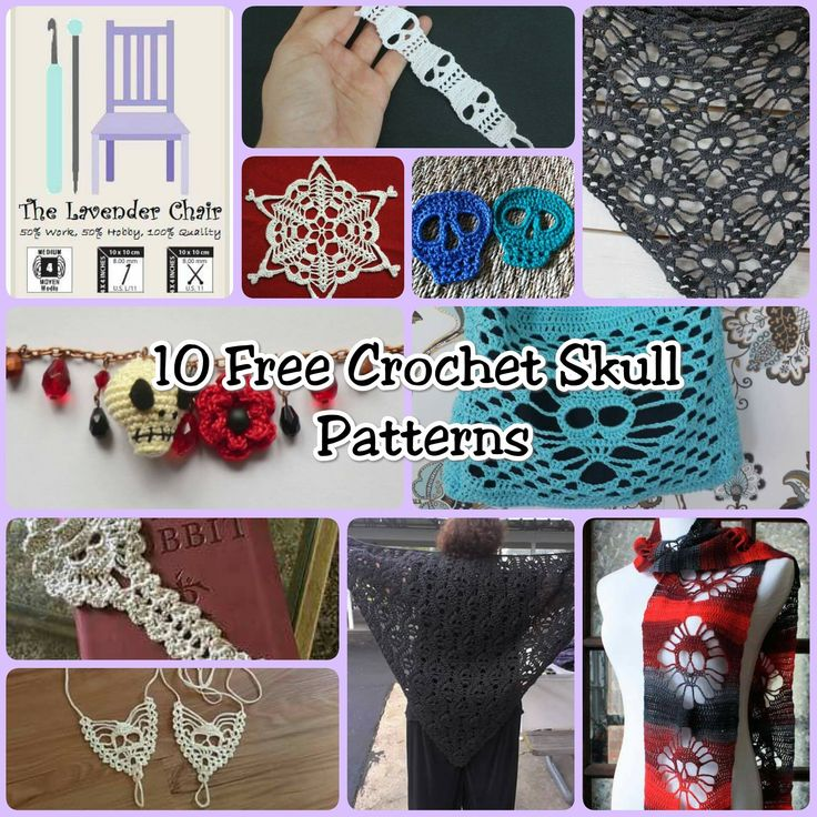 With this skull crochet patterns you can create and amazing and creepy peice of art. Great for either Halloween or Dia de los Muertos! Even for when ever.