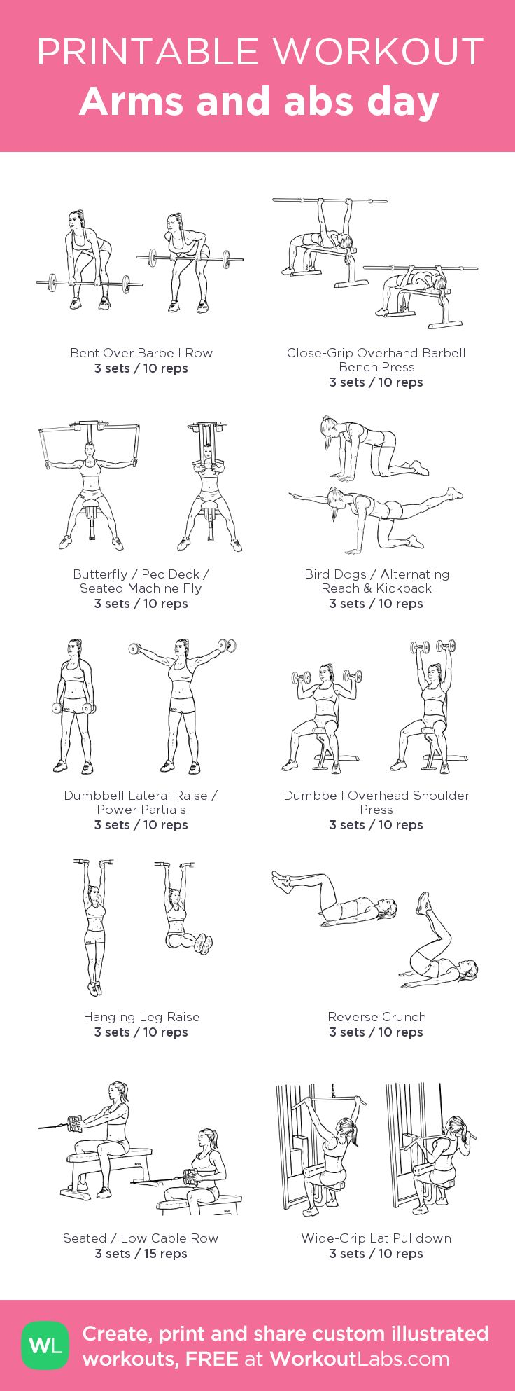 Best 25 Arms And Abs Ideas On Ab Arm Workout