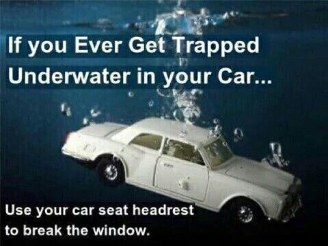 Trapped In Car In Water