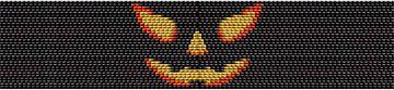 Grinning Jack 2 Drop Peyote Halloween Bead Bracelet Pattern at Sova-Enterprises.com
