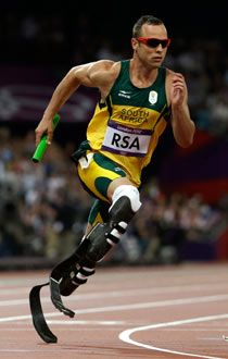 South African runner Oscar Pistorius