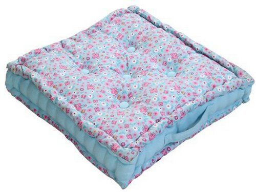 Homescapes - Butterflies - 100% Cotton - Large Floor Cushion - Pink Blue White Floral - 50 x 50 x 10 cm Square - Indoor - Garden - Dining Chair Booster - Seat Pad Cushion. Homescapes http://www.amazon.co.uk/dp/B0087PHIC8/ref=cm_sw_r_pi_dp_3hSoub1KB801D