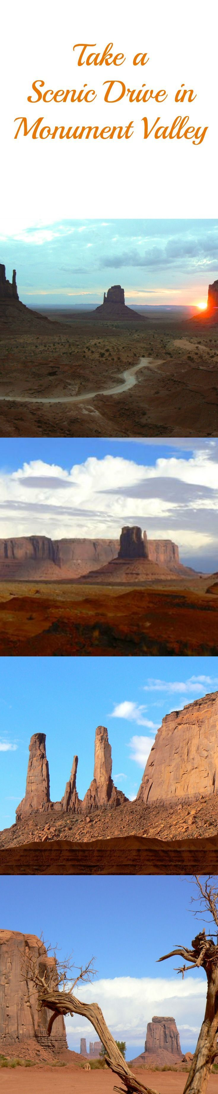 Take a scenic drive in Monument Valley