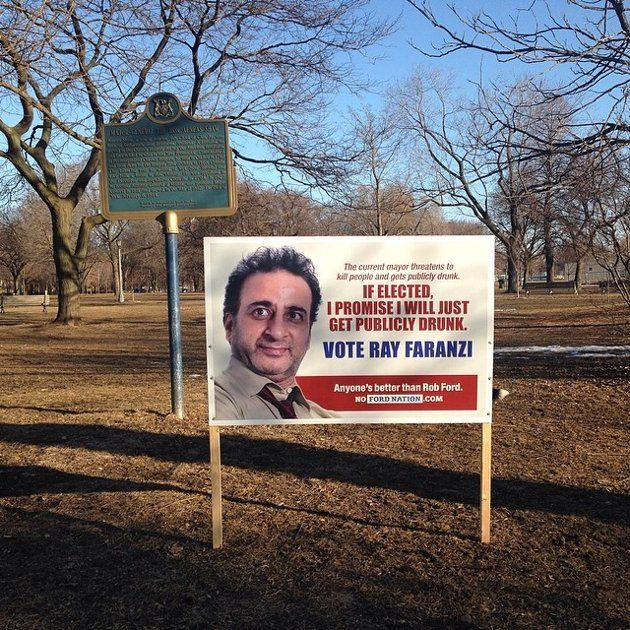 Anti-Rob Ford Toronto election signs promote fictional mayoral candidates | Daily Brew - Yahoo News Canada