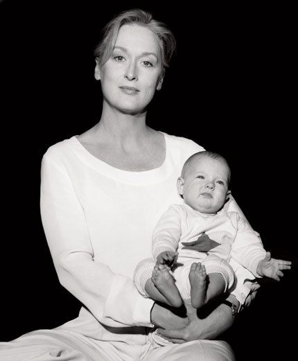 Meryl Streep (best actress, 1980, Kramer vs. Kramer; best actress, 1983, Sophie's Choice) with with her daughter Louisa in Los Angeles, 1991.