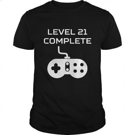 Level 21 Complete Video Games 21st Birthday - #printed t shirts #mens dress shirt. SIMILAR ITEMS => https://www.sunfrog.com/Gamer/Level-21-Complete-Video-Games-21st-Birthday-Black-Guys.html?id=60505