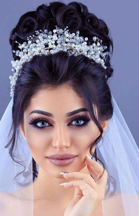 Gorgeous Wedding Hairstyle With Crown 1 Wedding Hairstyles With Crown Hair Styles Medium Hair Styles
