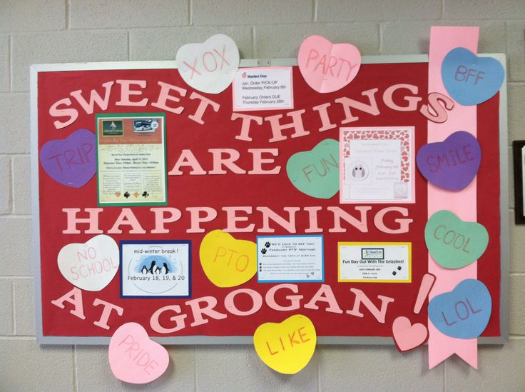 Sweet things are happening February PTO Bulletin Board