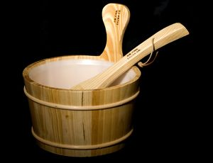 Sauna Bucket and Ladle Set