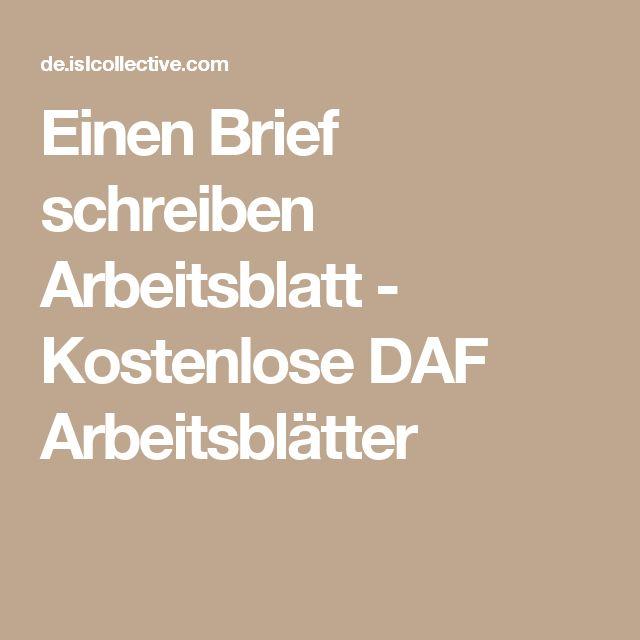 Einen Brief schreiben Arbeitsblatt - Kostenlose DAF Arbeitsblätter