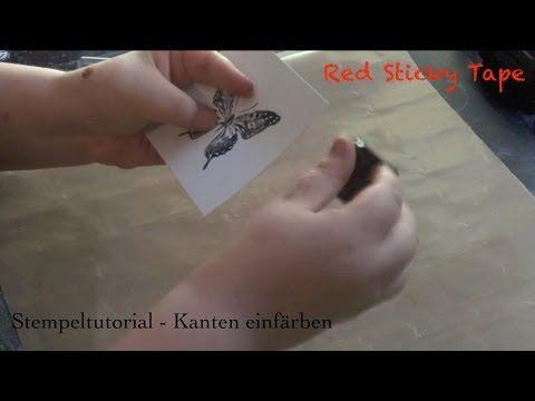▶ Stempel Tutorial - Kanten einfärben - YouTube