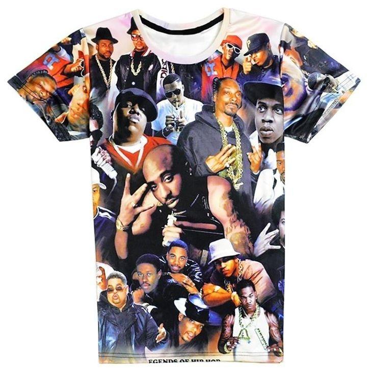 New Women Tupac Biggie Hip Hip Rap Star Men Fashion 3D T Shirt Tupac Shakur 2Pac T-shirt Hip Hop Rap Tees Camisetas Tops Shirts