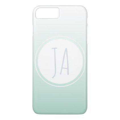 Ladies Stylish Monogram Initials Simple Ombre iPhone 8 Plus/7 Plus Case - initial gift idea style unique special diy