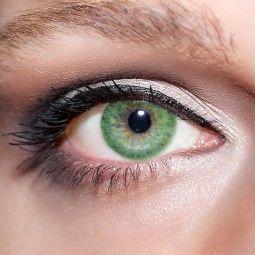 Grüne Kontaktlinsen farbige smaragdgrüne Linsen von KwikSibs, Jadegrüne 1-farbig auch mit Stärken