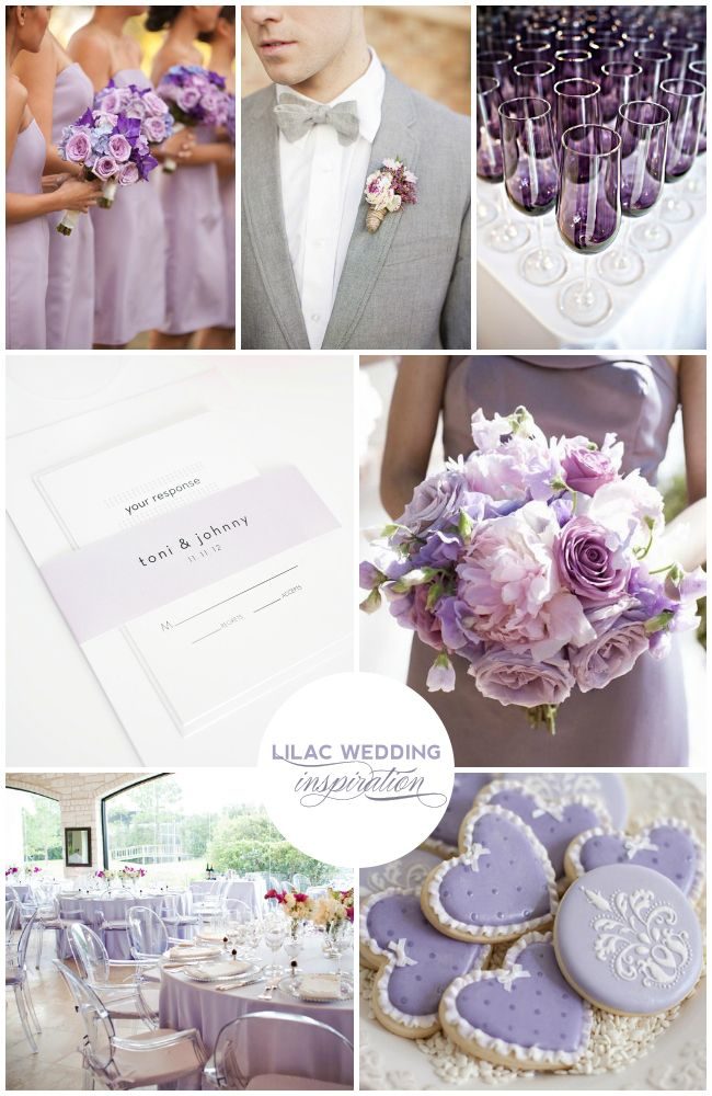 Lilac Wedding Inspiration - Modern Lilac Wedding Invitations - http://www.shineweddinginvitations.com/wedding-invitations/modern-dots-wedding-invitations