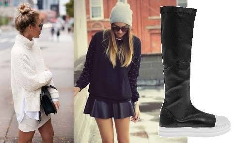 B&W outfits with Bow Boots! #Fred #keepfred #shoes #black #white #black&white #collection #leather #fashion #style #boots #A/W