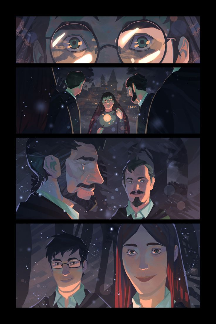 Harry Potter and the Deathly Hallows. My favorite moment from the serie. I started those fanarts because I wanted to illustrate this moment, but it was impossible to me to make a simple illustration of it and decided to deal it as comic pages. It was hard, I tried many possibilities it was very sophisticated but I realized the simplest the better. Lupin is my favorite character I think !