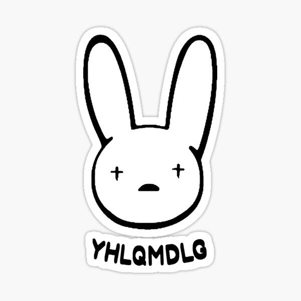 Bad Bunny Logo Sticker By Charlenegalla Redbubble In 2020 Bunny Logo Bunny Wallpaper Bunny Tattoos