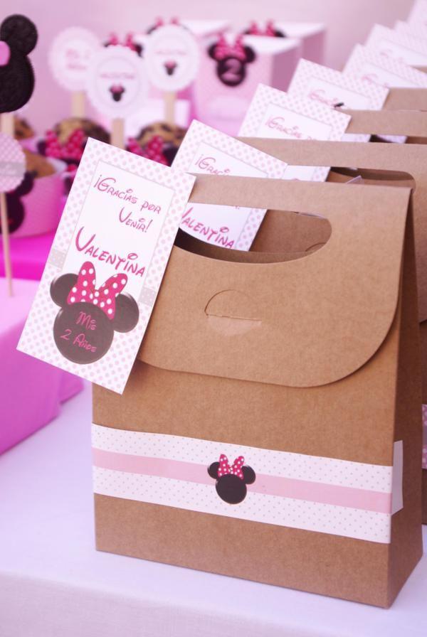 Souvenirs para dulces Minnie, sencillas pero muy lindas