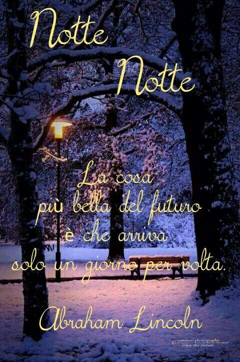 Buonanotte, dolce nott...