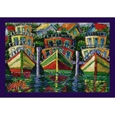 Found it at Wayfair - Don Sawyer Party Boats Tropical Novelty Rug