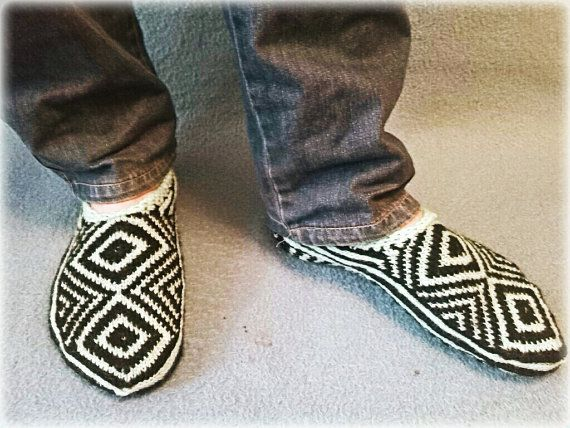 Warm and Cozy Slippers for Men by WarmandCozyKnits on Etsy