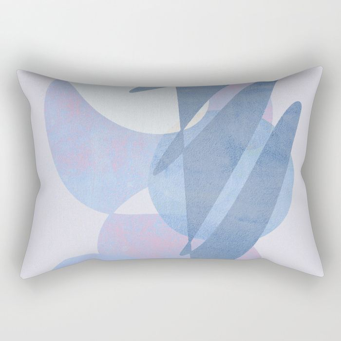 Buy Minimal Pebbles Balance 1 Blue And Pink Rectangular Pillow By Domvariwords Worldwide Shipping Available At Pillows Rectangular Pillow Modern Throw Pillows